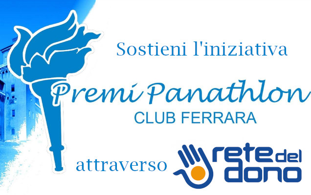 Panathlon Ferrara su rete del dono